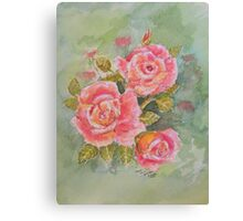 Pink Posy  Watercolour Flowers at their best Canvas Print