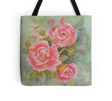 Pink Posy  Watercolour Flowers at their best Tote Bag