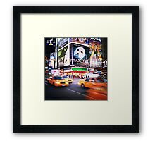 NYC: Taxi Taxi Framed Print