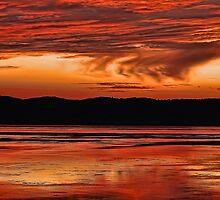 Mississippi River Sunset by Don Schwartz