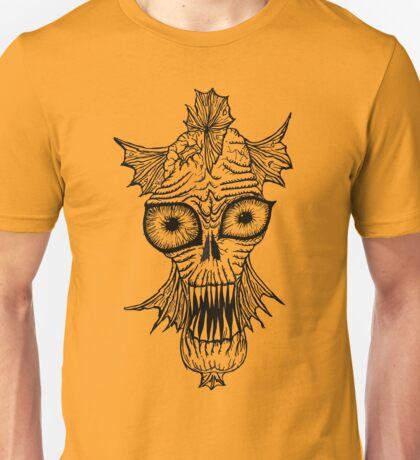Monster Mondays #1 - Fishy Monster - Black Lines Unisex T-Shirt