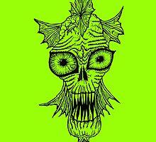 Monster Mondays #1 - Fishy Monster - Black Lines by monstermondays