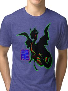 ۞»♥Legendary Dragon with a Chinese Character Clothing & Stickers♥«۞ Tri-blend T-Shirt