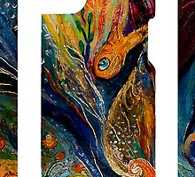 "iPhone skin 3 based on my original artwork ""Longing for Chagall"" by Elena Kotliarker"