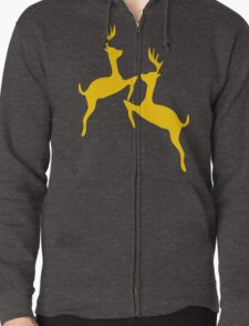 ۞»♥Golden Jumping Deer Couple Clothing & Stickers♥«۞ Zipped Hoodie