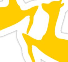 ۞»♥Golden Jumping Deer Couple Clothing & Stickers♥«۞ Sticker