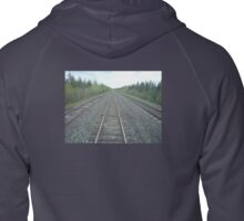 Vanishing Point: RailroadTracks Zipped Hoodie