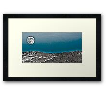 Moonrise Over the Mountains Framed Print