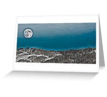 Moonrise Over the Mountains Greeting Card