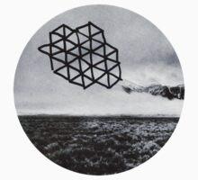 Landscape of Geometry Circular Sticker by ToriTori