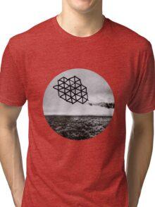 Landscape of Geometry Circular Sticker Tri-blend T-Shirt
