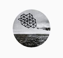 Landscape of Geometry Circular Sticker Unisex T-Shirt