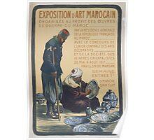 Exposition dart Marocain Poster