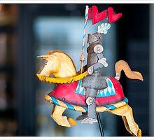 Metal knight in Kortrijk, Belgium by photocat1311