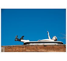 Man in tub - Winslow, Arizona Photographic Print
