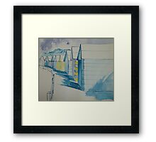 Beach-hut-tastic Framed Print
