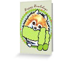 Pomeranian Happy Howlidays Christmas Cards Greeting Card