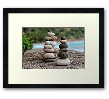 Stacked Pebbles 04 Framed Print