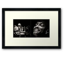 Will Kennedy, on drums Framed Print