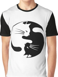 Ying yang cat Graphic T-Shirt
