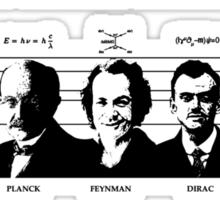 Quantum Mechanics - The Usual Suspects Sticker