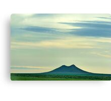 Sky over 2 Buttes Canvas Print