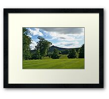 View from the Gardens of Pittodrie House  Aberdeanshire Framed Print