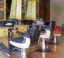 Small Town Barber Shop by Susan Savad