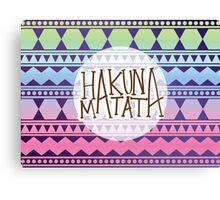Aztec HAKUNA MATATA Canvas Print
