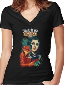 Bioshock Infinite , Burial at sea Women's Fitted V-Neck T-Shirt