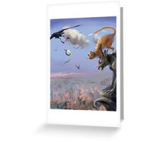 Flying Time Greeting Card