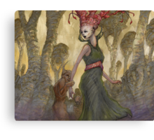 The Abduction of Anne Duvell - western version  Canvas Print