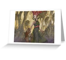 The Abduction of Anne Duvell - western version  Greeting Card
