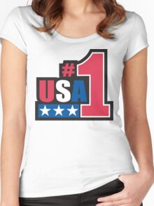 Veteran's Day USA #1 T-Shirt Women's Fitted Scoop T-Shirt