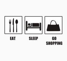 Eat Sleep Go Shopping Kids Clothes
