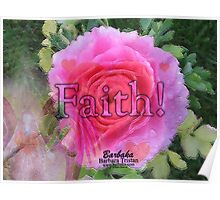 Angels Pink Rose of Faith Poster