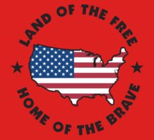 Land of The Free Home of The Brave T-Shirt Kids Clothes