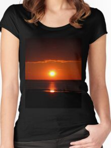 Bathed in orange Women's Fitted Scoop T-Shirt