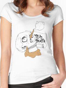 Tea Till Death Colour Women's Fitted Scoop T-Shirt