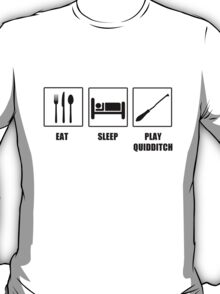 Eat Sleep Play Qudditch T-Shirt