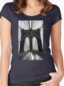 Brooklyn Bridge NYC Women's Fitted Scoop T-Shirt