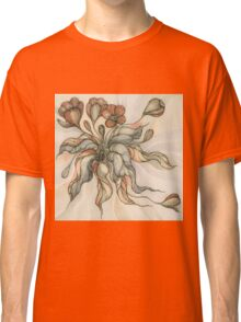 Vintage Bridal Bouquet.Hand drawn watercolor and ink drawing Classic T-Shirt