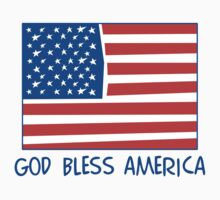 God Bless America T-Shirt One Piece - Long Sleeve