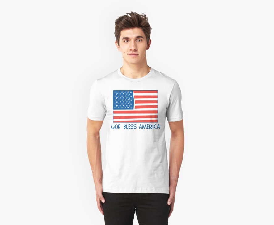 God Bless America T-Shirt by HolidayT-Shirts