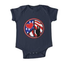 American Flag Peace Patriotic One Piece - Short Sleeve