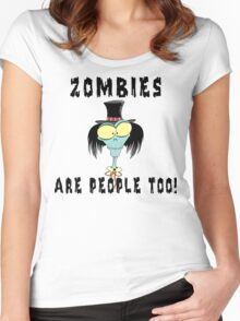 "Halloween ""Zombies Are People Too!"" T-Shirt Women's Fitted Scoop T-Shirt"