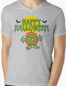 Happy Halloween T-Shirt Mens V-Neck T-Shirt