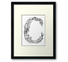 Floral Letter C Framed Print