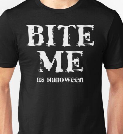 "Halloween ""Bite Me It's Halloween"" T-Shirt Unisex T-Shirt"