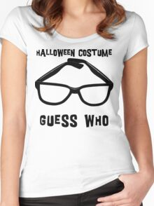 "Halloween ""Halloween Costume - Guess Who?"" T-Shirt Women's Fitted Scoop T-Shirt"